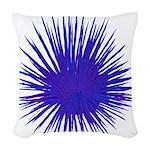 Purple Sea Urchin Woven Throw Pillow