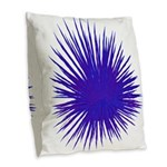 Purple Sea Urchin Burlap Throw Pillow