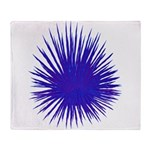 Purple Sea Urchin Throw Blanket