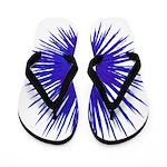 Purple Sea Urchin Flip Flops