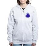 Purple Sea Urchin Zip Hoodie