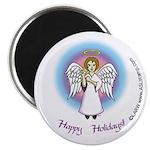 Happy Holidays ILY Angel Magnet