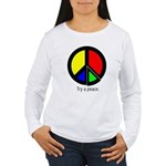 Try a peace Women's Long Sleeve T-Shirt