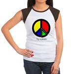 Try a peace Women's Cap Sleeve T-Shirt
