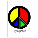 Try a peace Large Poster