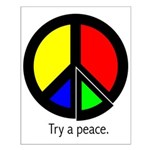 Try a peace Small Poster