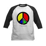 Try a peace Kids Baseball Jersey