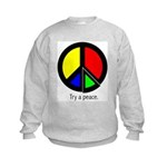 Try a peace Kids Sweatshirt