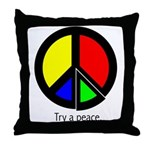 Try a peace Throw Pillow