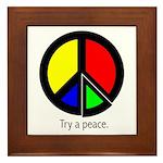 Try a peace Framed Tile