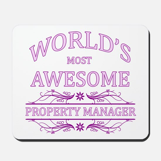 World's Most Awesome Property Manager Mousepad