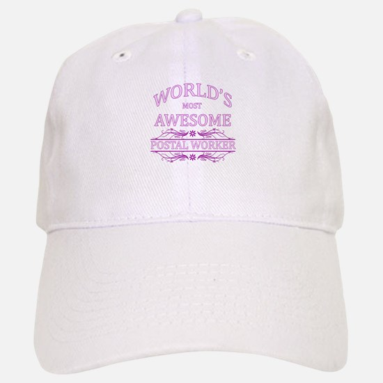 World's Most Awesome Postal Worker Baseball Baseball Cap
