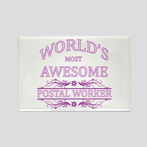 World's Most Awesome Postal Worker Rectangle Magne