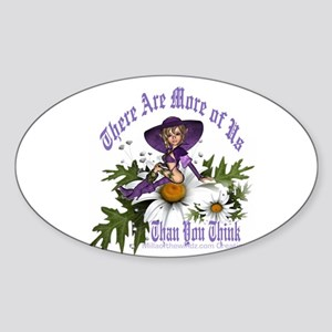 There Are More of Us: Pagan W Oval Sticker