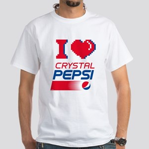 Crystal Pepsi Heart White T-Shirt