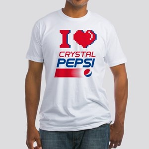 Crystal Pepsi Heart Fitted T-Shirt