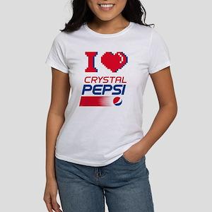 Crystal Pepsi Heart Women's Classic White T-Shirt