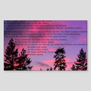 Great Spirit Prayer Sticker (Rectangle)