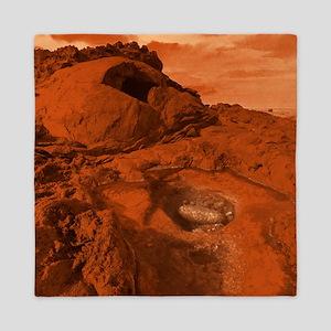 Mars landscape Queen Duvet