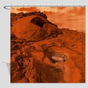 Mars landscape Shower Curtain