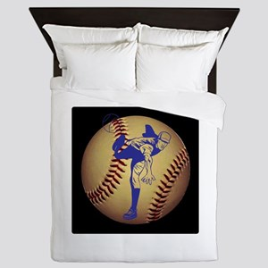 Baseball Pitcher Queen Duvet