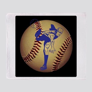 Baseball Pitcher Throw Blanket