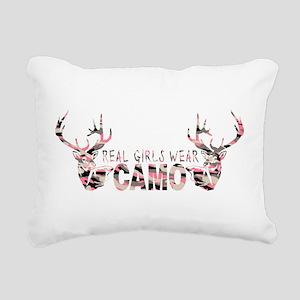 REAL GIRLS WEAR CAMO Rectangular Canvas Pillow