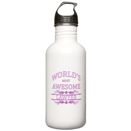 World's Most Awesome Lawyer Stainless Water Bottle