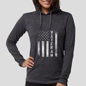 U.S. Veteran Flag Womens Hooded Shirt