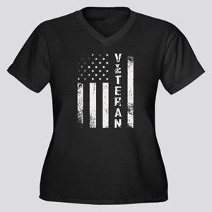 U.S. Veteran Flag Plus Size T-Shirt