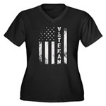 U.S. Veteran Flag Plus Size T-Shirt