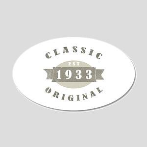 1933 Birthday Classic Original 20x12 Oval Wall Dec