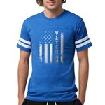 U.S. Veteran Flag Mens Football Shirt