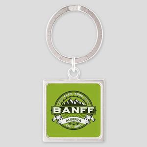 Banff Green Square Keychain