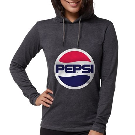 Pepsi 90s Logo Womens Hooded Shirt