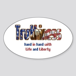 Truthiness Oval Sticker