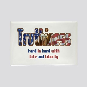 Truthiness Rectangle Magnet