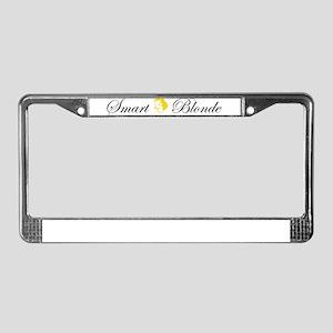 Smart Blonde License Plate Frame