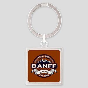 Banff Vibrant Square Keychain