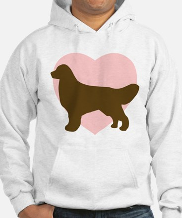Golden Retriever Heart Hoodie Sweatshirt