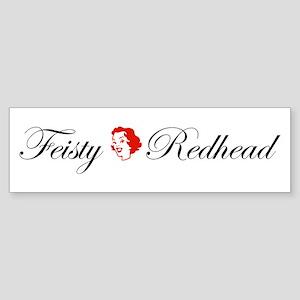 Feisty Redhead Bumper Sticker