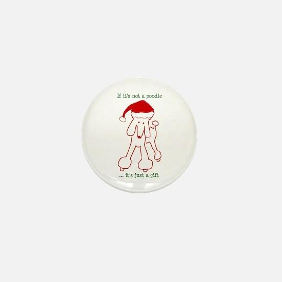 Santa Poodle Mini Button