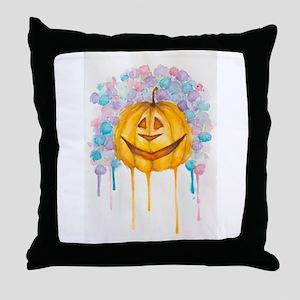 Happy Jack O'Lantern Throw Pillow