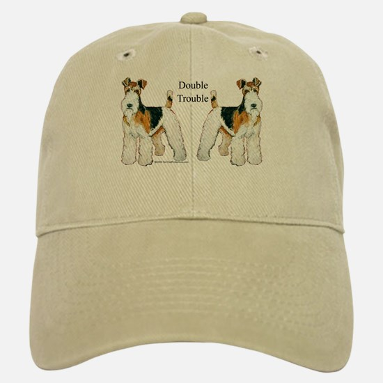 Double Trouble Wire Fox Terri Baseball Baseball Cap