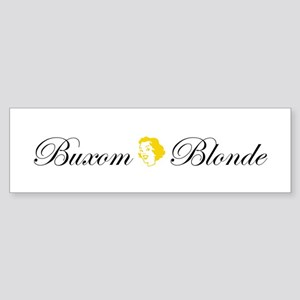 Buxom Blonde Bumper Sticker