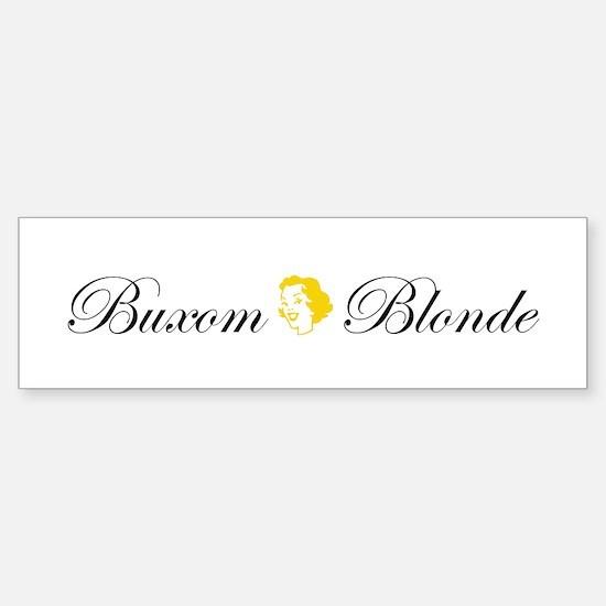 Buxom Blonde Bumper Bumper Bumper Sticker