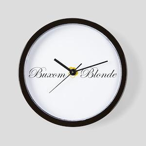 Buxom Blonde Wall Clock