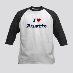 I HEART AUSTIN Kids Baseball Jersey