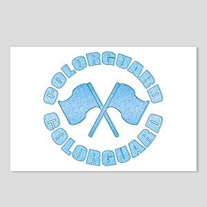 Vintage Colorguard Blue Postcards (Package of 8)