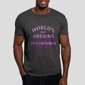 World's Most Awesome Dog Groomer Dark T-Shirt